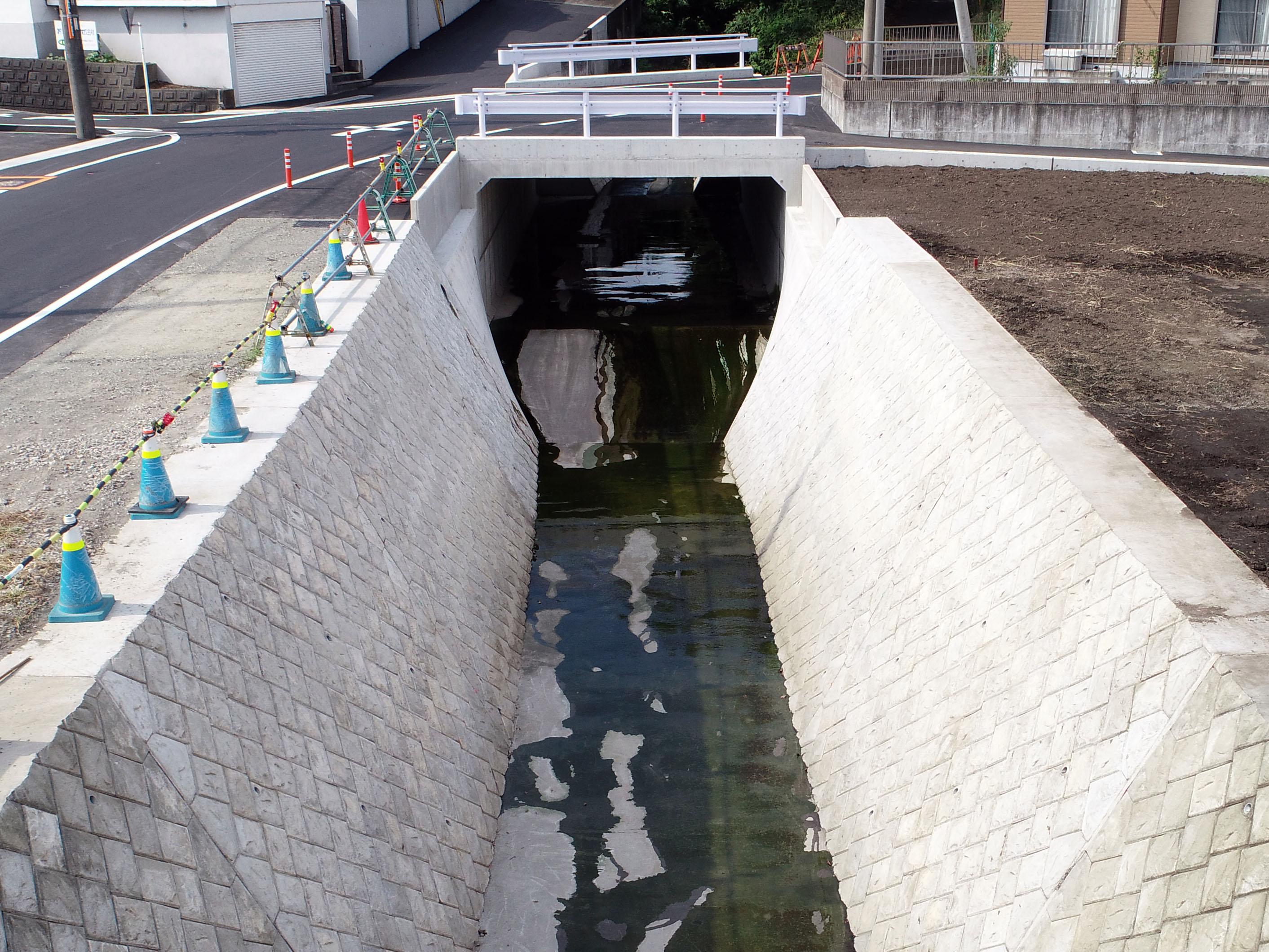 松原川(原田地区)改修工事